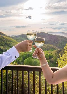 From our mountaintop wedding pavilion. #Cheers #weddingtoast