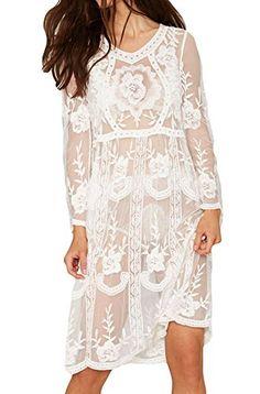 Womens Long Sleeve Floral Lace Midi Dress Beach Wear Biki... http://www.amazon.com/dp/B01DS1TYN6/ref=cm_sw_r_pi_dp_vXFvxb11EGPMR