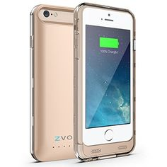 iPhone 6 Battery Case, ZVOLTZ ZT6 iPhone 6 Battery Case (4.7 Inches) [Champagne Gold/Clear]