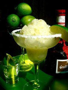 Margarita Granita - made with Tequila & Grand Marnier - Today is National Margarita Day! Summer Desserts, Summer Drinks, Fun Drinks, Beverages, Fruity Drinks, Mixed Drinks, Alcoholic Drinks, Kaldereta Recipe, Salpicao Recipe
