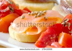 canape with salmon and coriander by Donatella Tandelli, via Shutterstock