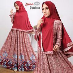 Beli Gamis Cantik Murah Denima Hijab Unik - http://www.butikjingga.com/gamis-cantik-murah-denima-hijab