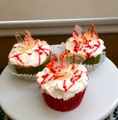 Broken Glass themed Halloween Cupcakes