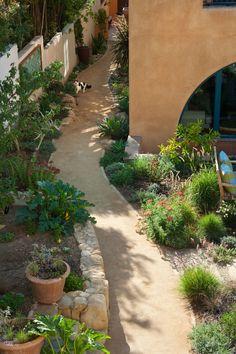 'Victoria Garden Mews. Sustainable Sites Gold Rated Project.' Margie Grace - Grace Design Associates, landscape design/build firm, Santa Barbara, CA. Allen Construction.
