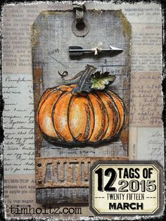 ❤ =^..^= ❤  12 tags of 2015 – november… | Tim Holtz