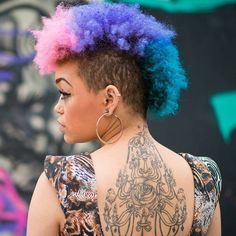 ~colorful Afro~ ∩( ・ω・)∩ ~multicolors~ that hair cut though love it!