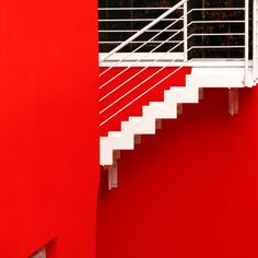https://flic.kr/p/CTGGjq | A white way out from the red | Scarlet red house emergency stairs detail. Bologna 2015