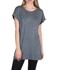 This Charcoal Cape-Sleeve Tunic - Women by Free to Live is perfect! #zulilyfinds