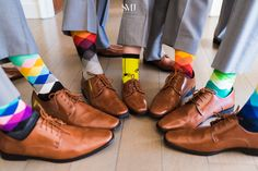 Groomsmen photo idea-get a shot of the groom and his buddies with fun, funky colorful socks Groom Socks, Groomsmen Socks, Groom And Groomsmen, Groomsman Attire, Baby Suspenders, Leather Suspenders, Wedding Photography List, Groom Pictures, Wedding Pics