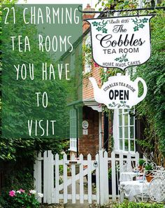 I want to visit all of these!   21 Absolutely Charming Tea Rooms You Have To Visit Before You Die