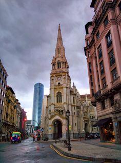 The church in Plaza de San Juan in Bilbao. A city just an hour away from San Sebastian. Most people visiting San Sebastian take a flight to Bilbao and drive to San Sebastian. Book your stay through http://faroutinn.com.