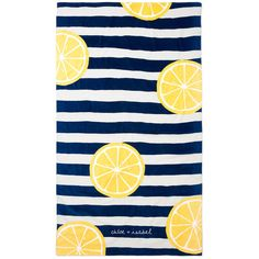 Limoncello Beach Blanket | Chloe + Isabel (3,350 INR) ❤ liked on Polyvore featuring home, bed & bath, bedding, blankets, cotton blanket, oversized bedding, cotton bedding, oversized blankets and oversized beach blanket
