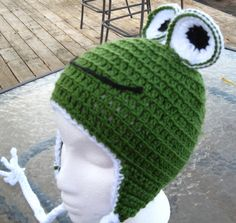 Frog Character Hat by mlyrec2010 on Etsy, $18.00