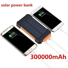 30000mah Dual-usb Solar Power Battery Mobile Power Adapter Portable Phone Charger Powerbank Phone Batteries Let Our Commodities Go To The World Cellphones & Telecommunications Mobile Phone Adapters