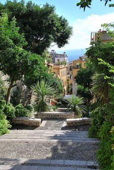Taormina, Sicily, Italy, one of the many steps we happen to happily come across.