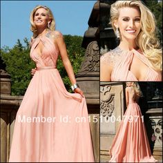 2014 New Elegant Nude Pink Sexy Keyhole Front Cap-sleeve Beaded Backless Evening Dress Prom Dresses $149.00 CLAIMED BY ANGIE