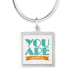 You Are Worth It - silver #necklace