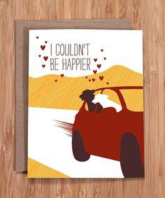 valentine's day card / happy dogs. $3.50, via Etsy.