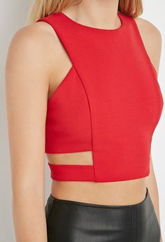 Cutout Crop Top   Forever 21 - 2000163131