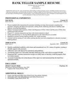 bank teller resume skills are really great examples of resume for those who are looking for guidance to fulfilling the recruitment in applying jobs - Bank Teller Sample Resume
