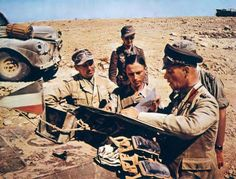 Erwin Rommel with map.
