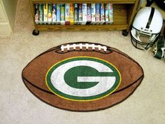 "NFL - Green Bay Packers Football Mat 20.5"""" X 32.5"""""