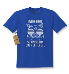Work Hard For My Cat Kids T-shirt