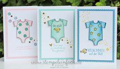 stempel einfach: Babykarten