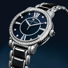 Beautiful blue face with classic lines follows a truly elegant style.