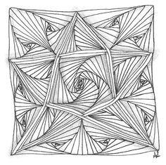Zentangle Muster Mixer 18, zwei Runden Auraknot, dann Paradox: EIN VERSUCH WERT!
