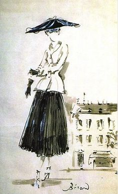 Christian #Dior illustration by Christian Berard for French Vogue, 1947. https://www.pinterest.com/olgatoptour/dior-couture https://www.pinterest.com/olgatoptour/dior-cosmetics https://www.pinterest.com/olgatoptour/dior-coat Hey @geokalt, @rosamercede2011, @yolagzz, @esparza1530! What are you thinking about this #DIOR pin?