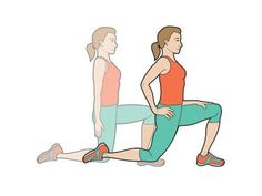 Tight hip flexors can lead to low back pain. The combination of stretching and strengthening can help prevent most chronic back pain. Hip Flexor Exercises, Back Pain Exercises, Yoga Exercises, Hip Stretches, Exercise Moves, Arm Yoga, Hip Problems, Tight Hip Flexors, Tight Hips