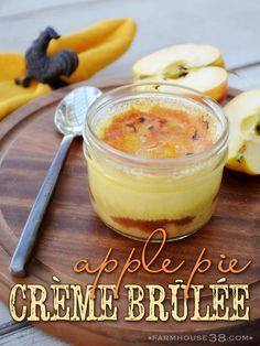 Apple Pie Crème Brûlée from Farmhouse38