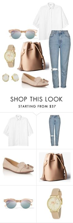 """""""college go to"""" by indirag on Polyvore featuring Monki, Topshop, Miss Selfridge, Le Specs, Kate Spade and Kendra Scott"""