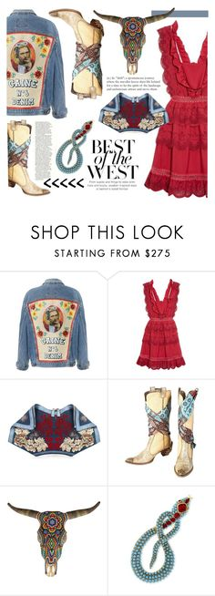 """""""Best of the West"""" by felicia-mcdonnell ❤ liked on Polyvore featuring self-portrait, Alexander McQueen, Giuseppe Zanotti, Our Exquisite Corpse and Kenneth Jay Lane"""
