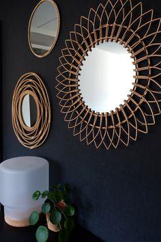 Bedroom Colors, Bedroom Decor, Mirror Collage, Boho Room, Round Mirrors, Decor Interior Design, House Styles, Home Decor, Decorations