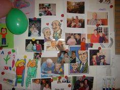 Klasversiering - Laat de kleuters een foto meebrengen van hun grootouders en laat hen er iets over vertellen