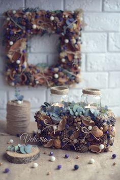 Handmade Decorations, Candlesticks, Christmas Wreaths, Holiday Decor, Flowers, Diy, Home Decor, Crafts, Home