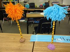 Awesome Truffula Trees with Pencils and Yarn Check them out...    -  Pinned by @PediaStaff – Please Visit http://ht.ly/63sNt for all our pediatric therapy pins