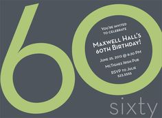 Sixtieth birthday invite