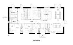 Plan Drawing, House Blueprints, House Layouts, Feng Shui, Stockholm, Building A House, House Plans, Villa, Floor Plans