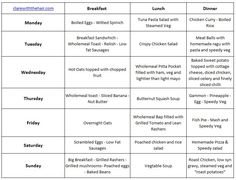 weekly meal plan slimming world pinterest weekly meal plans