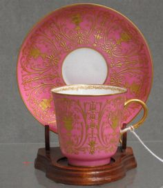 Sevres porcelain cup and saucer