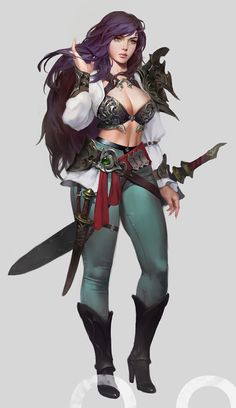 If you are interested in drawing a beautiful fantasy girl, then I hope this article is going to help you. I want to show you some awesome ideas for how to draw your fantasy girl. Fantasy Girl, Chica Fantasy, Fantasy Warrior, Fantasy Women, Warrior Concept Art, Warrior Girl, Female Character Concept, Character Design Cartoon, Fantasy Character Design