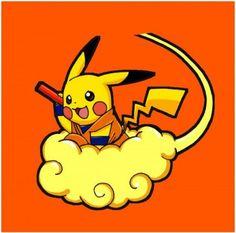 Pokemon Life, Fan Art Pokemon, Pokemon Dragon, O Pokemon, Pikachu Pikachu, Pokemon Crossover, Anime Crossover, Dragon Ball Z Shirt, Cute Pokemon Wallpaper