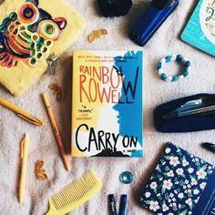 I can't wait to start reading Rainbow Rowell's Carry On. Rowell is one of my favorite authors. I especially loved Eleanor & Park. Plus I've read a lot of great reviews on this book so I'm pretty excited to read it and find out if it's as good as they say.   I haven't done a flatlay for almost three weeks. I'm not quite satisfied with how the photo turned out but I guess it'll do. Another thing though I realized that I don't have a lot of stuff that are yellow in color besides those pens and…