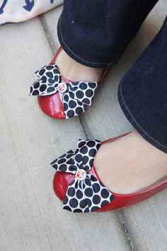 Olivia Paige Rockabilly Pin up anchor flats by Rockabillybaby2010