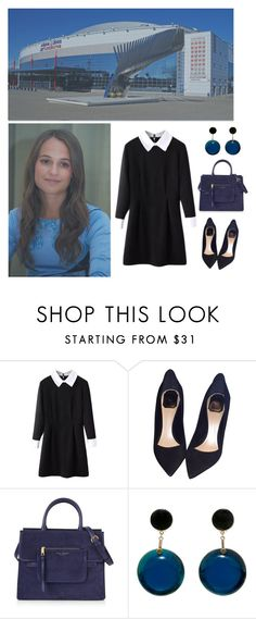 """""""Tour in Russia: Visit junior hockey school """"Locomotive"""""""" by asmin ❤ liked on Polyvore featuring WithChic, Christian Dior, Marc Jacobs and Marni"""
