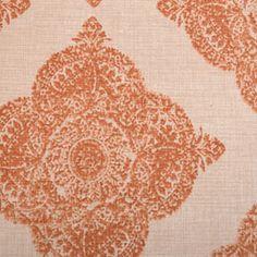Duralee John Robshaw: 21038 - 107 Orange Fabric 30% OFF everyday low price!