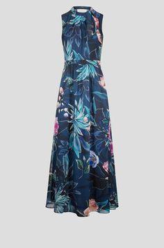Maxi haljina s cvjetovima Interesting Stuff, Chiffon, Summer Dresses, Fashion, Floral Patterns, Mandarin Collar, Gown Dress, Curve Dresses, Moda